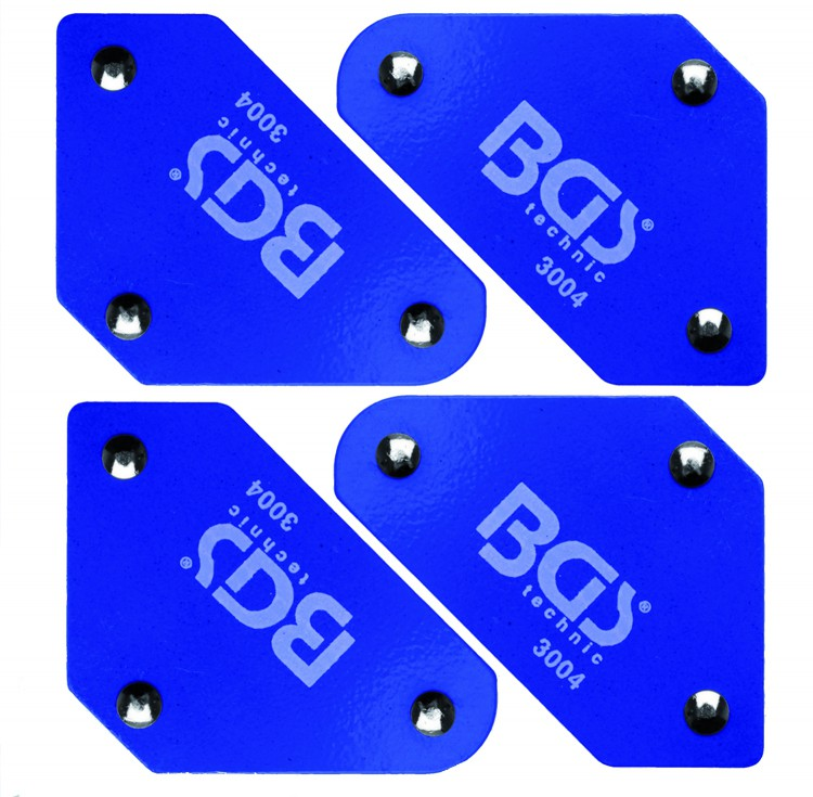BGS 3004 Mini Magnetwinkel mit Winkel 45° - 90° - 135° 4 kg Haltekraft / Magnet