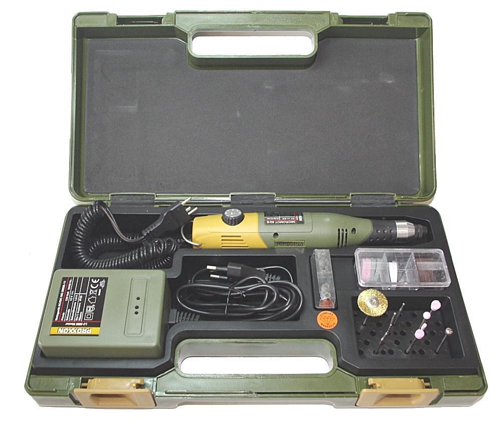 PROXXON 28515 Modellbauer - und Gravier Set  mit Bohr- und Fräsgerät 60/e