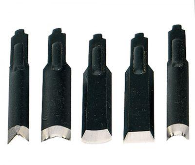 PROXXON 28572 Satz Schnitzmesser in 5 verschiedenen Formen