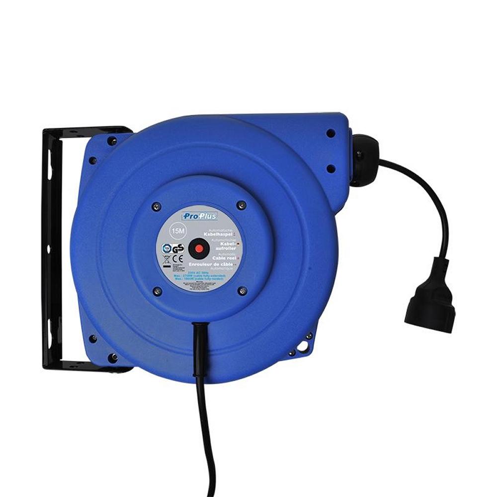 PATeurope ProPlus 580786 automatische Kabeltrommel mit 15 Meter Kabel