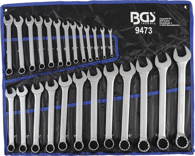 BGS 9473 Satz ZOLL INCH Maulringschlüssel 1/4