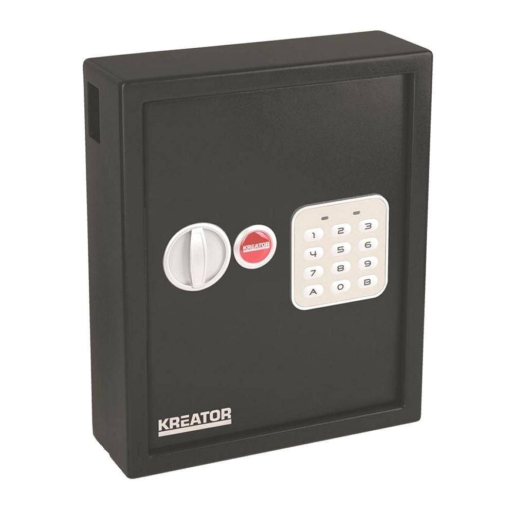 VARO KRT692048 Schlüsselkasten Safe Tresor mit elektronischem Schloss max. 48 Schlüssel