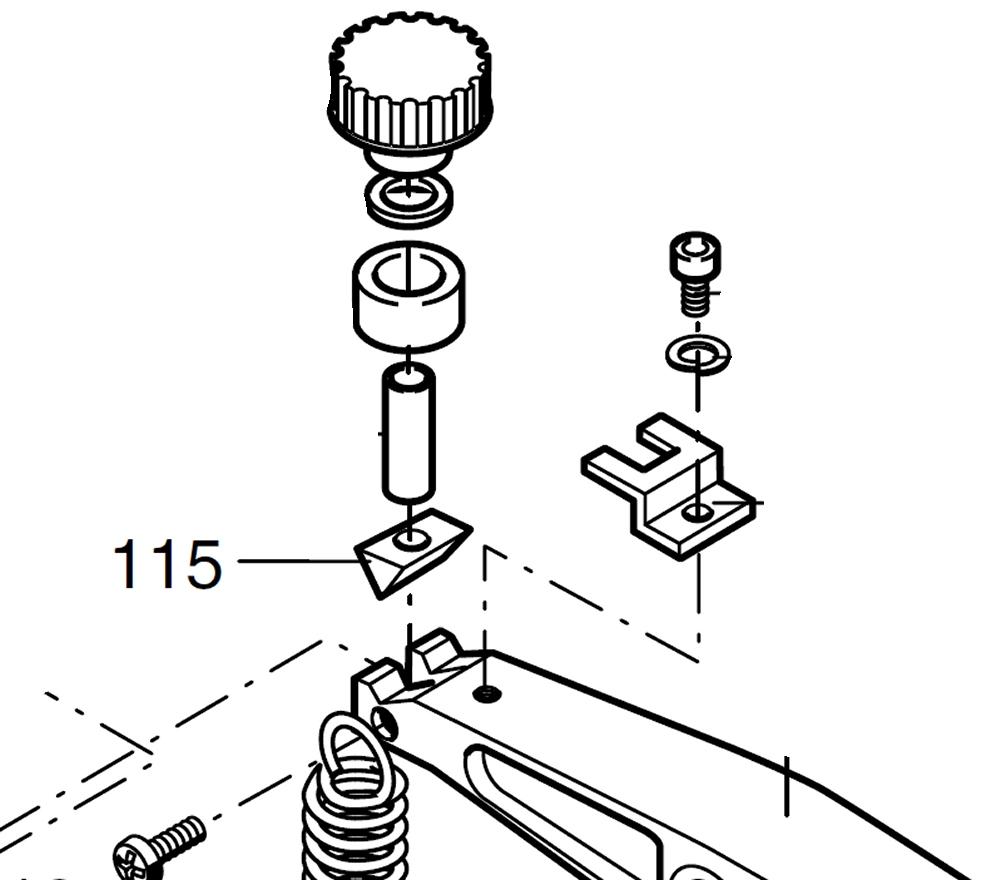PROXXON 28092-115 Klemmstück, oben für Dekupiersäge DSH