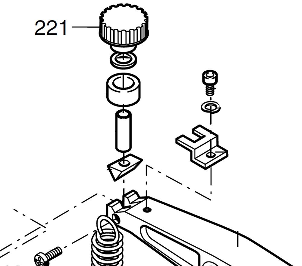 PROXXON 28092-221 Einstellknopf für Dekupiersäge DSH