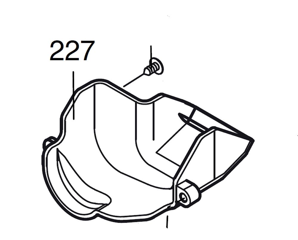 PROXXON 28092-227 Luftleitblech für Dekupiersäge DSH ab 08/2015