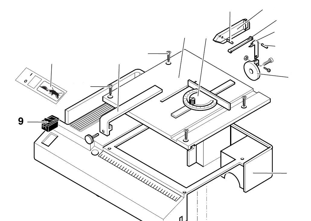 PROXXON 27006-09 Schalter für Tischkreissäge KS230 27006-9