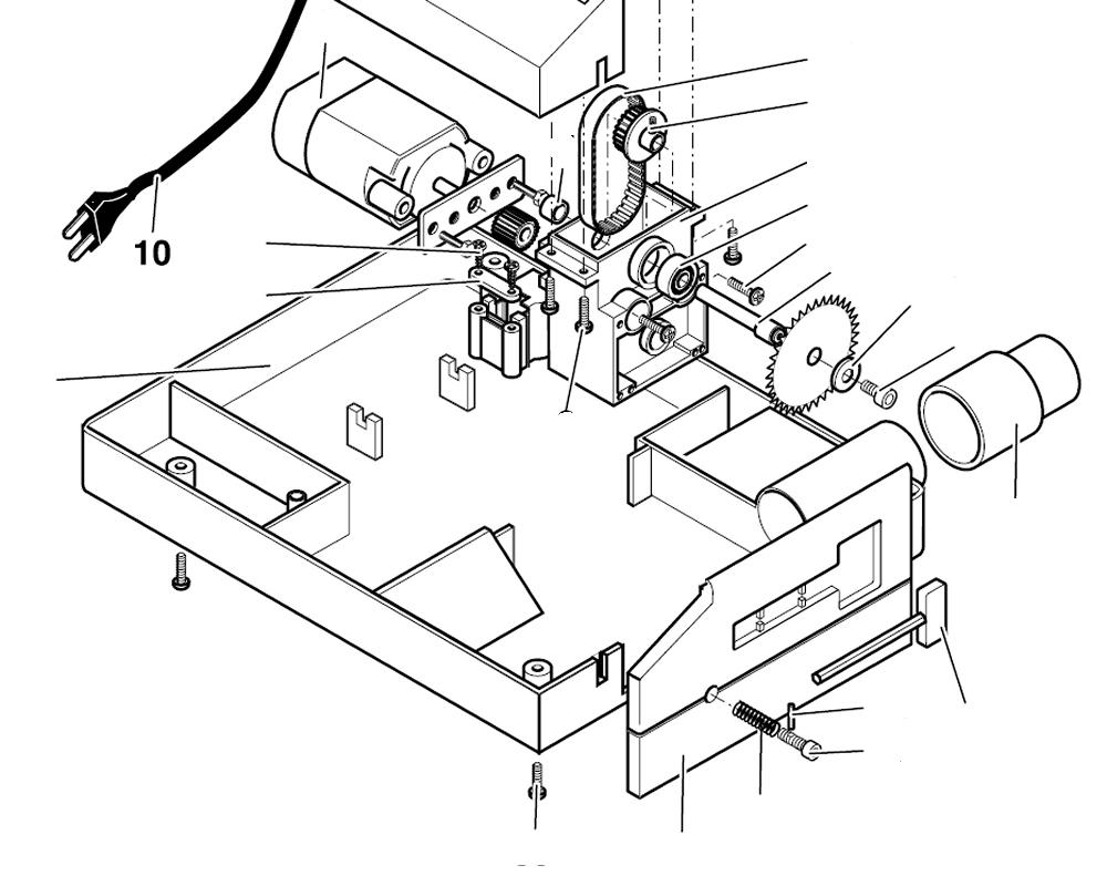 PROXXON 27006-10 230 Volt Anschlußkabel mit Stecker für Tischkreissäge KS230