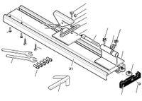 PROXXON 27020-31 Tischprofil / Maschinenbett für Drechselbank DB250