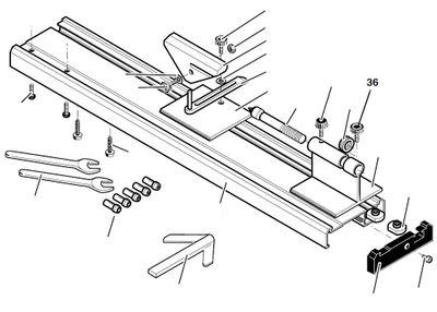 PROXXON 27020-36 Rändelschraube M4 für Drechselbank DB250