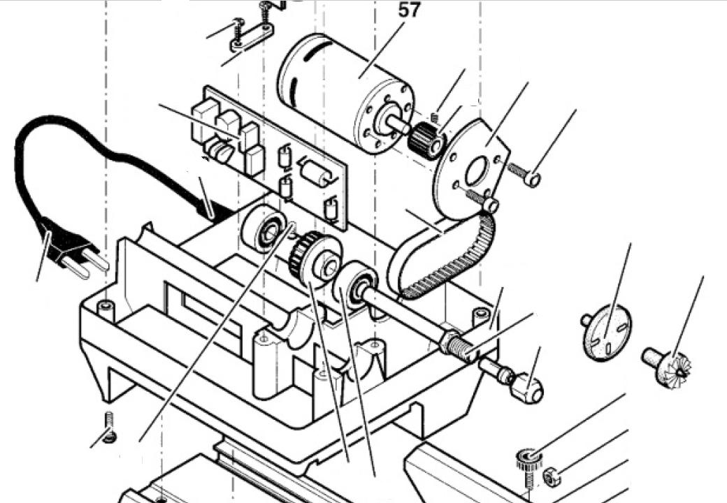 PROXXON 27020-57 Motor für Drechselbank DB250