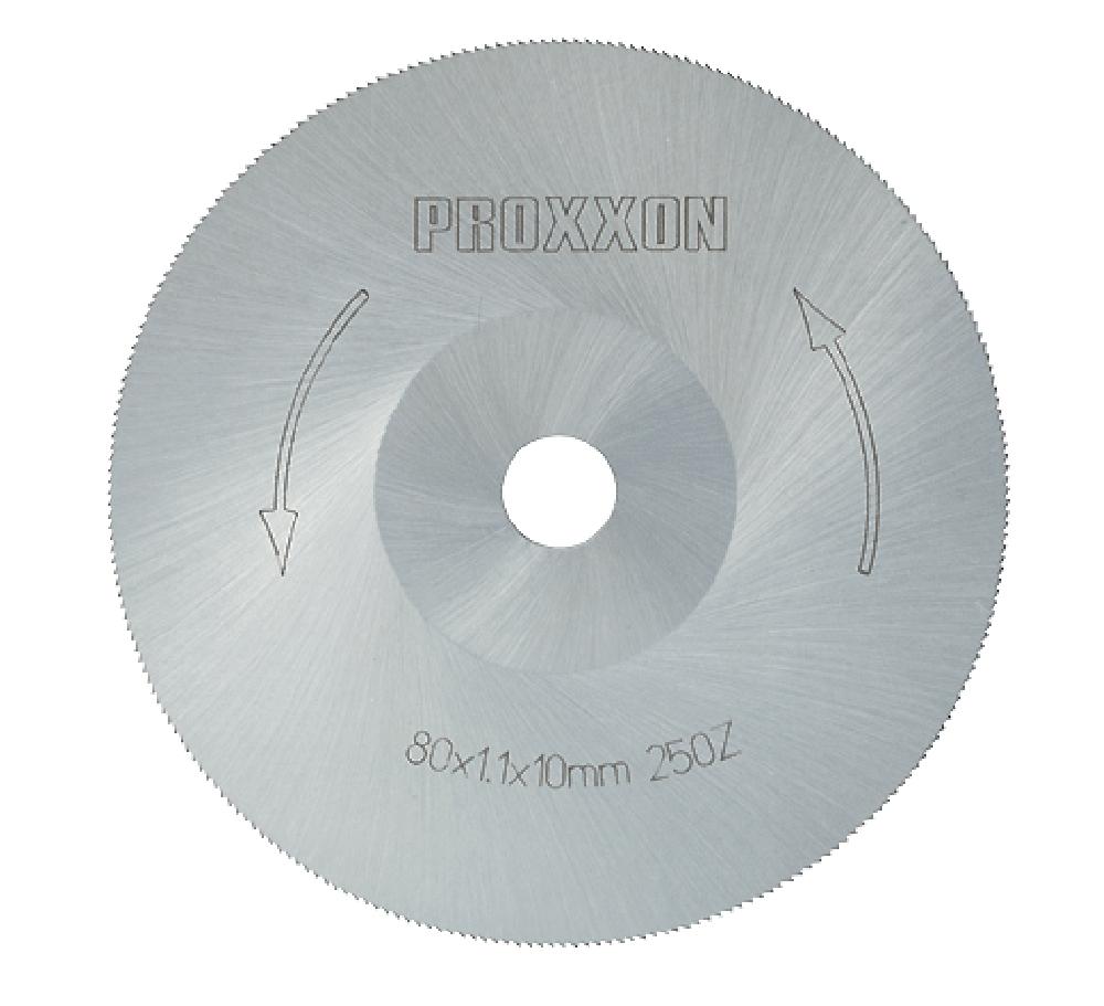 PROXXON 28730 Kreissägeblatt HSS 250 Zähne Ø80mm Durchmesser