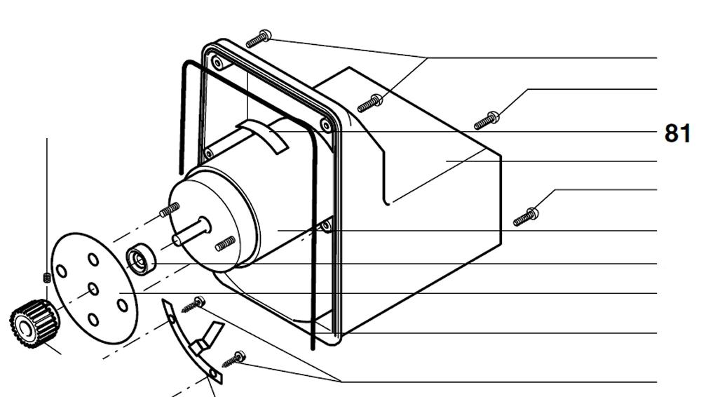 PROXXON 27172-81 Typenschild für Motor für Bandsäge MBS240/e