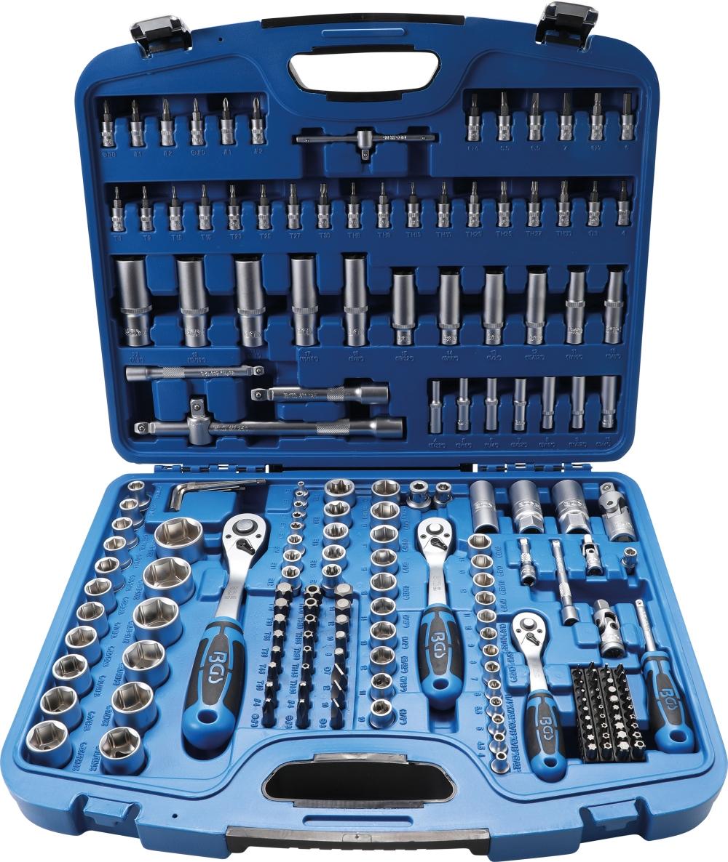 """Steckschlüssel Satz 3//8/"""" Ratschenkasten Umschaltknarre Werkzeugkoffer 9-tlg Set"""
