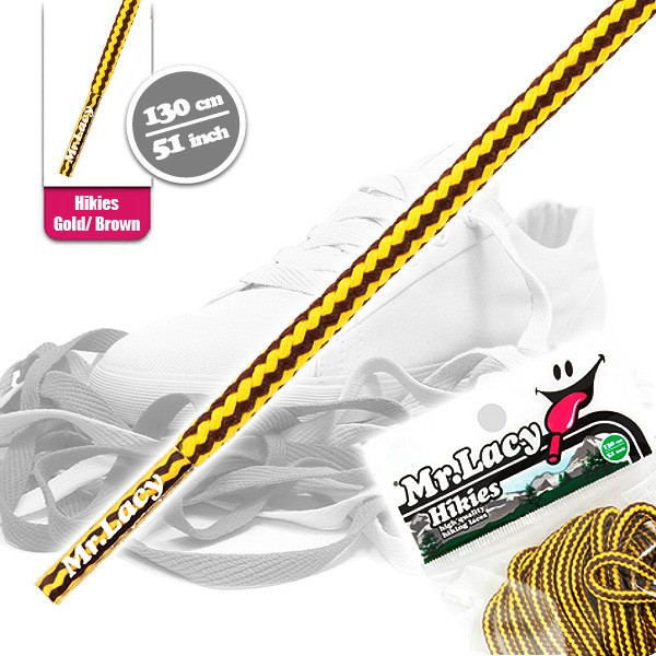 Mr. Lacy - Hikies Laces Schnürsenkel - Gold / Brown