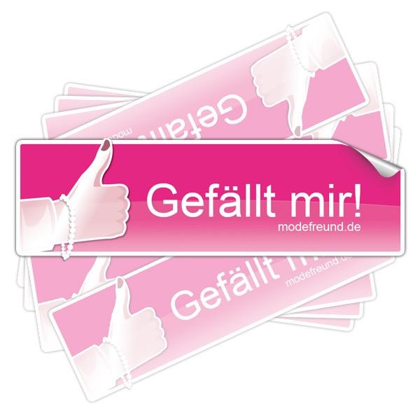 10x Gefällt mir! Sticker pink