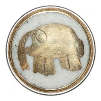Noosa Chunk Elephant white-gold-brass powderstone