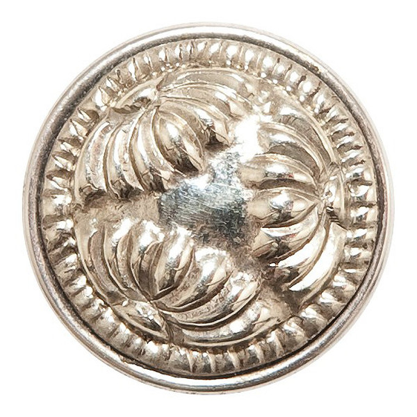 Noosa Chunk Kiku silver/white metal