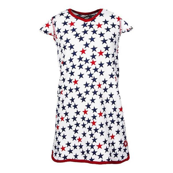 KIK KID Print Star Kleid weiß