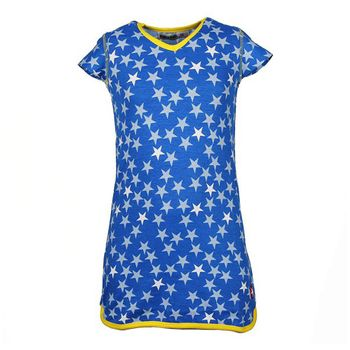 KIK KID Print Star Kleid blau