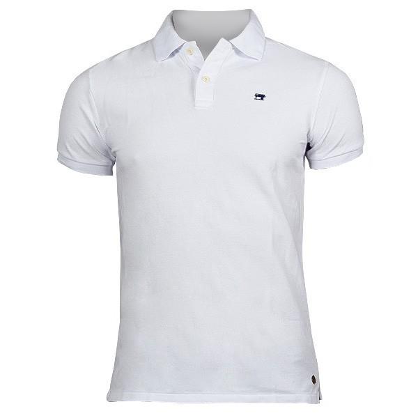 SCOTCH & SODA Garment-dye Piqué Poloshirt weiß