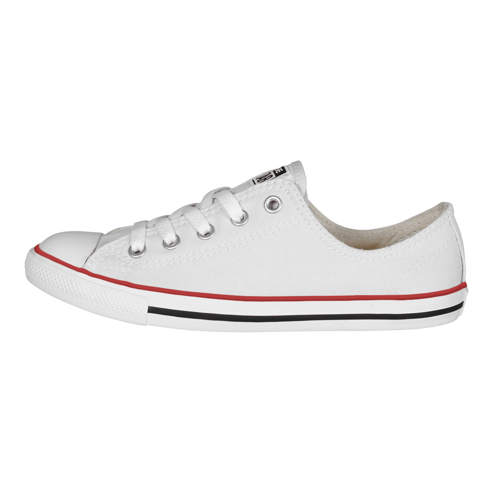 Details about Converse Chuck Taylor all Star Women Dainty Ox White Chucks Slim Flat White