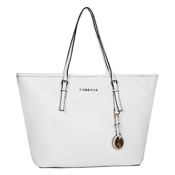 Tom & Eva Damen Handtasche 6228F TE-Jet Set Travel Bag Tasche Weiß