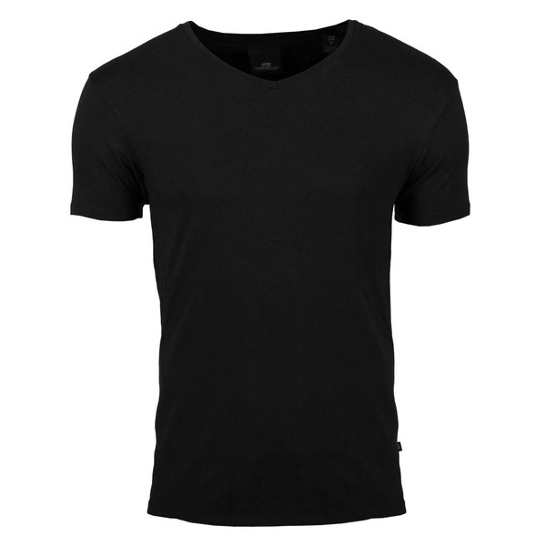 Scotch & Soda Basic Lycra V-Neck T-Shirt schwarz