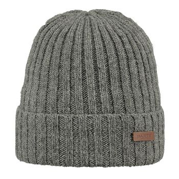 Barts Haakon Turnup Beanie Heather Grey