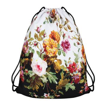 Modefreund Turnbeutel Sport & Freizeit Motiv Bag TrendPrints Gymsack - Flower Power