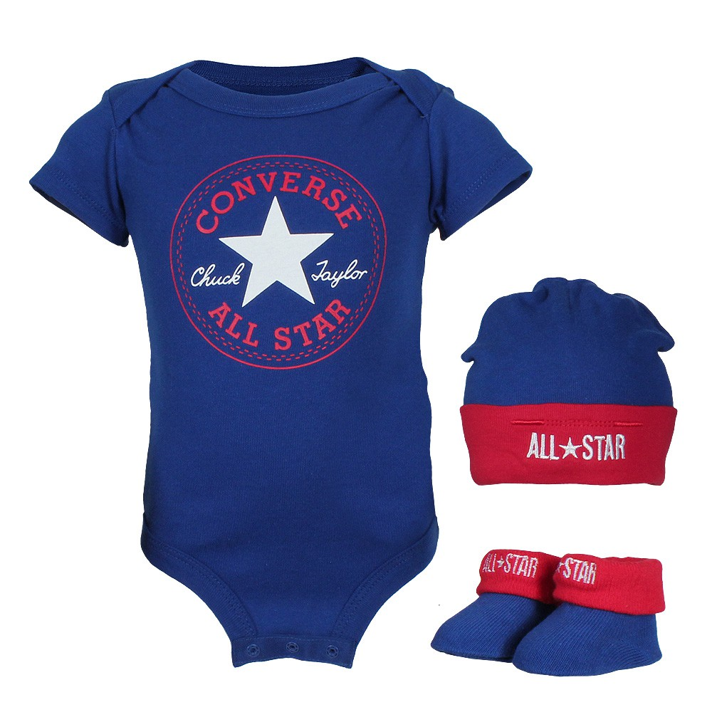Converse Baby Gift Set Boy : Converse all star baby er gift set body suit hat socks