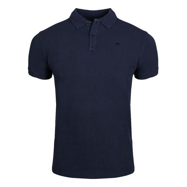 SCOTCH & SODA Garment-dyed Cotton Piqué Poloshirt Ink