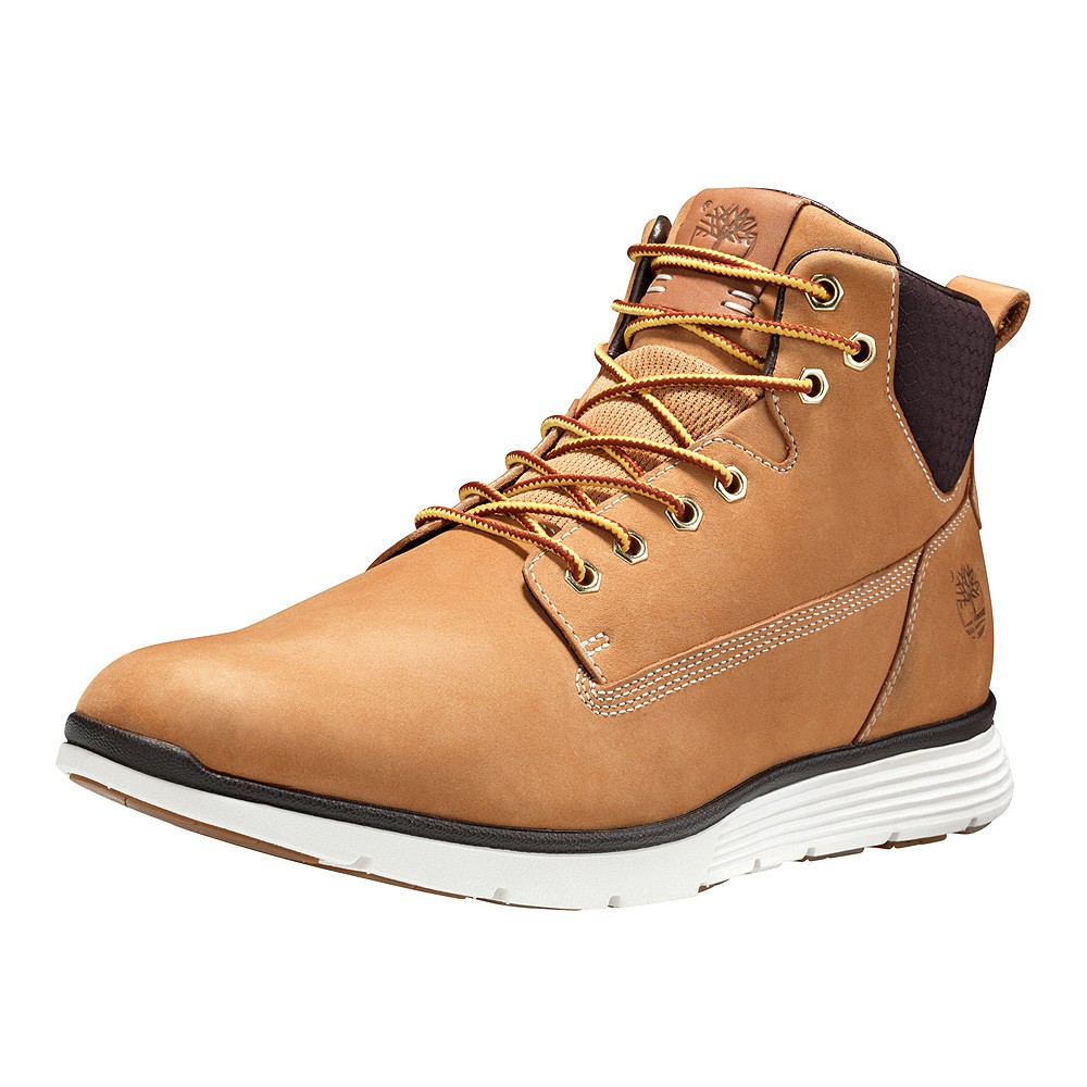 0d19b642f6e Details about Timberland A191I Killington Chukka Boat W/ L Men's Boots  Yellow Leather Wheat
