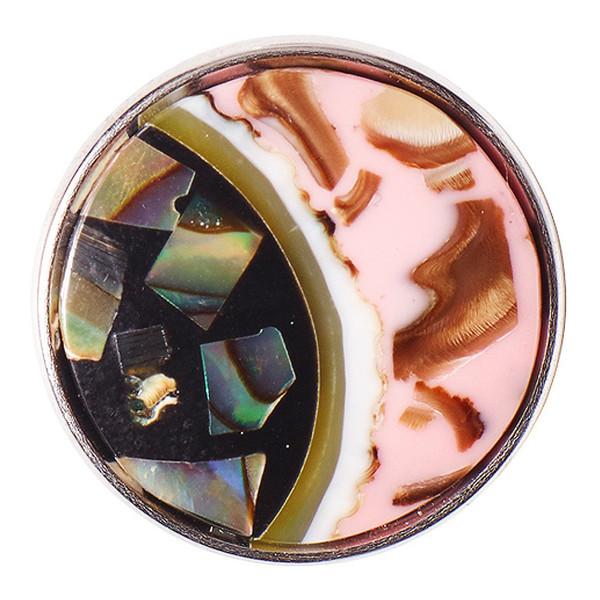 Noosa Chunk Wabi Sabi MOTTAINAI - pink/black - shell/resin