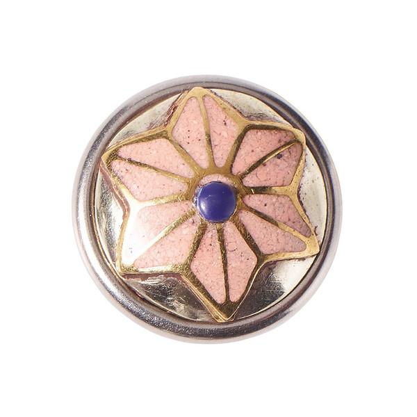 Noosa Petite Chunk Wabi Sabi ASANOHA - powderstone / metal - pink