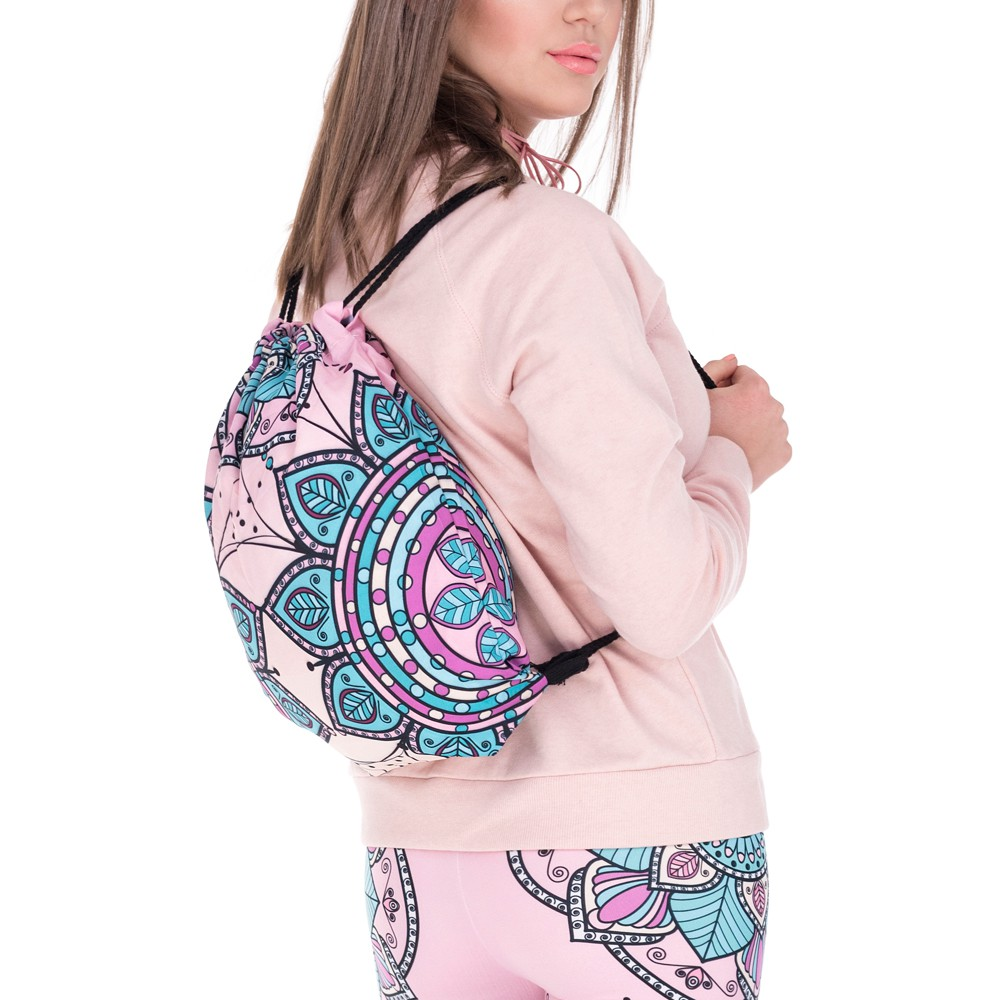 Modefreund Turnbeutel Sport Motiv Bag TrendPrints Gymsack Mandala Flowers