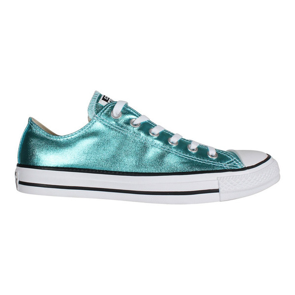 Converse Unisex Schuhe Chuck Taylor All Star Sneaker Low Ox Fresh Cyan (Metallic blau)