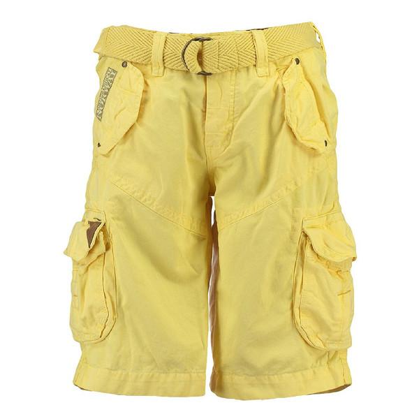 Geographical Norway Herren Cargo Shorts kurze Bermuda Hose Polish Men Yellow (gelb)