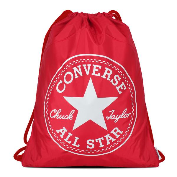 Converse Unisex Turnbeutel Cinch Bag Scarlet Red White (rot)