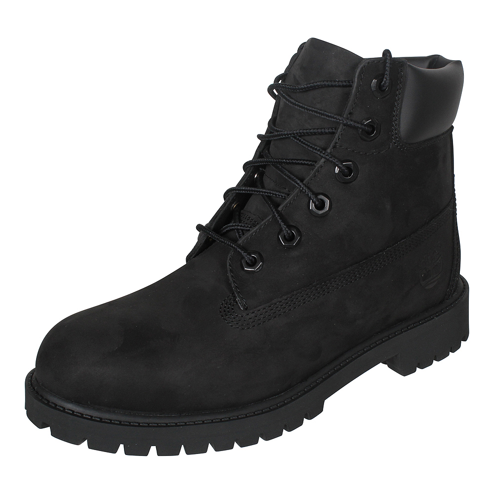 the latest 6f0bc 4baca Details about Timberland Women's Leather Boots Boots Shoes 6 Inch Premium  Nubuck Boot Black