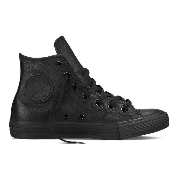 Converse Unisex Chuck Taylor High Sneaker Monochrome Leder schwarz