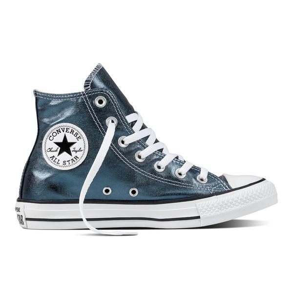 Converse Damen Chuck Taylor All Star High Sneaker Metallic Canvas Blue Fire (blau)