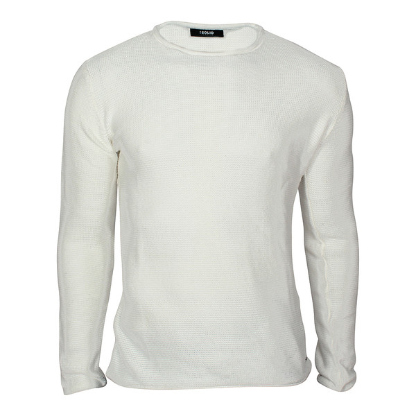 Solid Herren Strickpullover Jarah Of White (weiß)