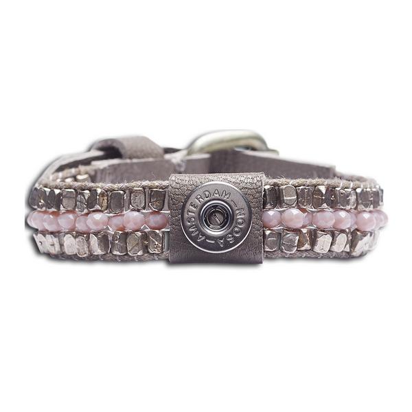 Noosa Petite Armband ohne Chunk Raw Romance healing grau