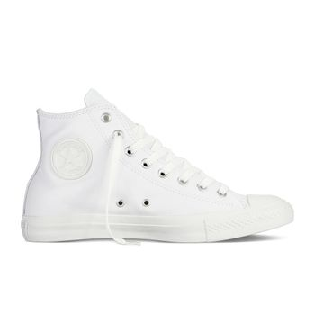 Converse Unisex Sneaker High Chuck Taylor All Star Leather Monochrome weiß