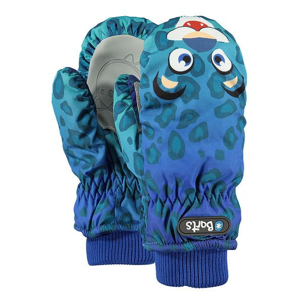 Barts Kinder Handschuhe Nylon Mitts Leopard Blau