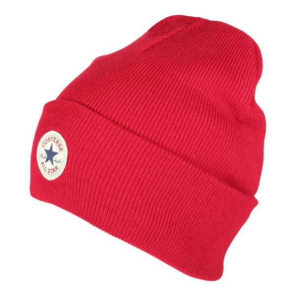 Converse Unisex Mütze Tall Cuff Watchcap Knit Casino Red