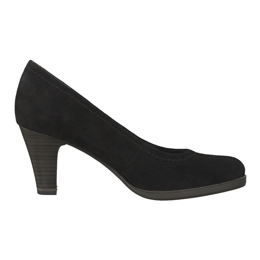 Details zu Tamaris Damen Pumps Pontius 22471 Wildleder Schuhe black suede (schwarz)
