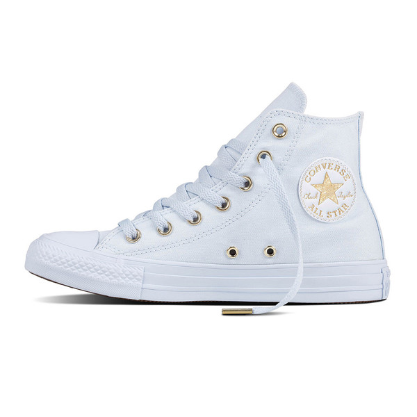 Converse Damen Chuck Taylor All Star High Sneaker Blue Tint/Gold (hell blau)