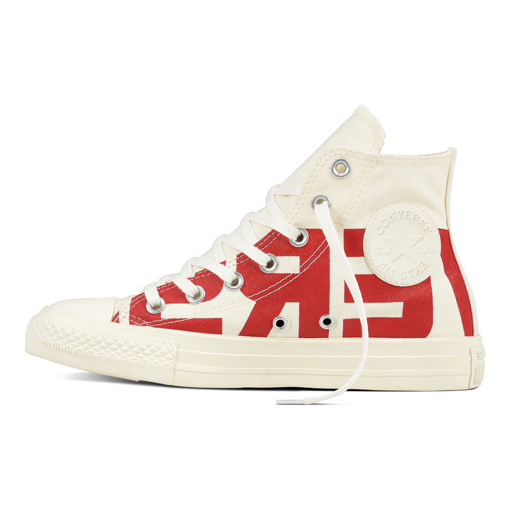Converse Chucks Ct AS Hi 159532c Word Mark Limited Beige Rosso