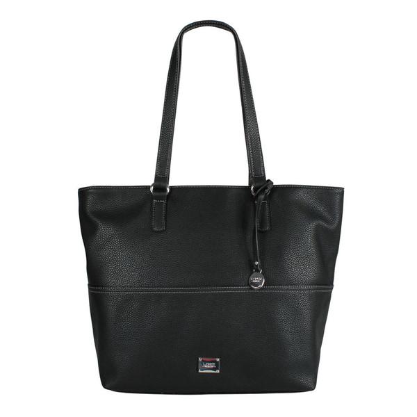 L. CREDI Damen Shopper Budapest Tasche 309-5745 schwarz
